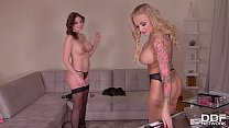 Sexxxretary Marie Clarence Pleases Her Boss Kayla Green With a Butt Plug preview image