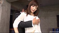 Kinky and wild Riona Suzune in a warehouse on h...