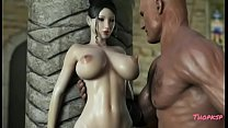 Hentai Queen loves her huge tits teased's Thumb