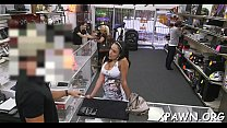 Fun loving and playful non-professional is drilled behind the counter thumbnail