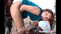 Screenshot Amateur Brunette Gets Fucked On The Beach