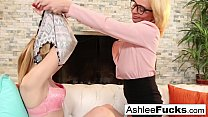 Sexy Ashlee gets seduced by her stepdaughter Ke...