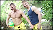 GAYWIRE - Public Gay Sex Featuring Euro Studs Chris and Luc