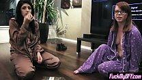 Slutvideos ◦ Pajama party finished with a hard punish lesbian sex thumbnail