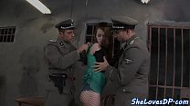 Smalltits prisoner assfucked by policemans