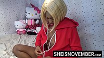 16112 Titties Fuck Msnovember Huge Ebony Titties And Large Black Areolas , Stuffing Her Mouth With My Big Balls And Hard Dick With Rough Face Fucking Then Amazing Cumshot Facial preview