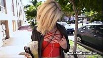 Fucking cute blonde teen outdoors thumbnail