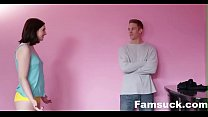 Cumming Home To New Step Sister |FamSuck.com [패밀리 스트록스 Family strokes site]