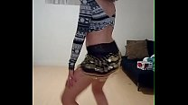 Dancing striptease amateur