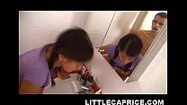 Little Caprice enjoys bathroom sex Thumbnail