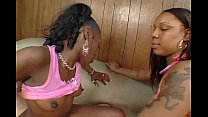 Two Ebony babes Cinnamon & Jazmyne Sky sharing ... Thumbnail