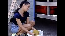 Young girl satisfied in the truck …