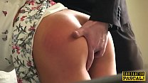 Spanked British Slut Submitted Into Roughsex