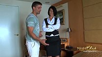 Free download video bokep Tricking room maid into fucking me