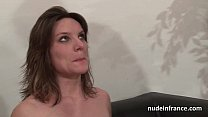 Casting couch of a pretty small titted french brunette analized by her boyfriend porn image