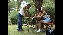 Horny chicks enjoys wild threesome together wit...
