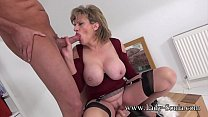 UK MILF rides sybian and sucks a huge cock Preview