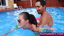 Swim and dick lessons for teenie teen Carolina ... thumb