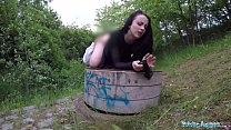 Public Agent Alessa Savage Gets Creampied Outdoors
