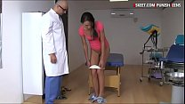 Tiny breasts teen analyzed by the doctor