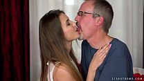 Elle Rose riding on her Dad's friend