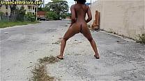 Ebony Veronica Claire nude in public