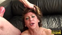 Faketit UK submissive jizzed in mouth in bdsm