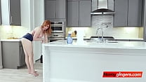 Lauren gets her horny stepbrother to help her out with her plumbing