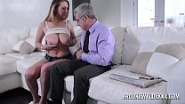 Beautiful young girl with big boobs fucked by a old man for Money image
