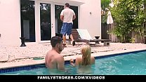 FamilyStrokes - Cute Teen Blonde Teases Cousin & Uncle pornhub video