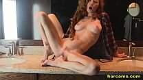 Super horny and hot body redhead milf fucks her... Thumbnail