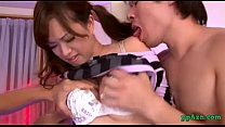 Asian Girl Getting Her Nipples Sucked Legs Tied Stimulated And Fucked With Toys