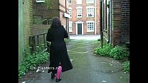 Outdoor flashing and public masturbation of fat bbw amateur Nimue in the streets Preview