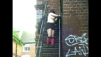 Outdoor flashing and public masturbation of fat bbw amateur Nimue in the streets image