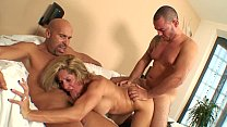 Threesome with hot portuguese girl and her cuck... thumb