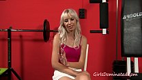 Blonde gets tied and fucked in gym - Download mp4 XXX porn videos