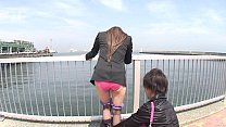Japanese outdoor stripping and vibrator teasing Subtitled thumbnail