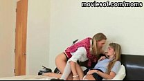 Teen student Staci share a cock with her MILF teacher Tanya thumbnail