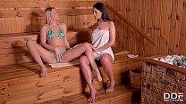 Lesbian sauna sluts Nikky dream & Loren Minardi...