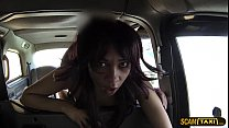 Petite tight body little cutie gets banged hard inside the taxi