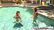 Summer lesbian fun with Brett Rossi and Celeste...