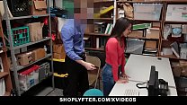 Shoplyfter - Hot Teen Caught And Fucked For Ste...