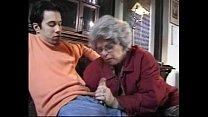 Granny German Lady Sucks Grandson Caught Jackin...