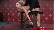 Straponfucked sub bent over by dom masters video