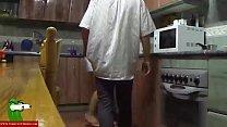 publicagent wife ~ sexo entre los fogones de la cocina con la morena tetoncita GUI045 thumbnail