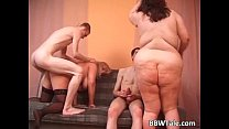 7761 Some skinny guys fuck two large sluts preview