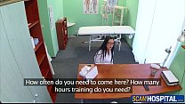 Gorgeous Brunette Trainee Gets Nailed In The Clinic By Doctors Huge Cock