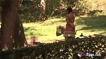 Tender 18 girl teasing Retiro denizens. Alba stops for nothing. image