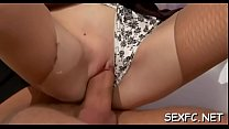 Frisky sweethearts love to ride penis