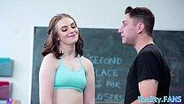 Gorgeous teen schoolgirl banged by teacher